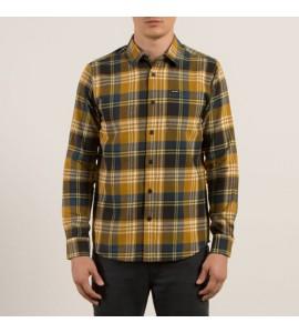 Camisa Volcom modelo Caden en Caramel