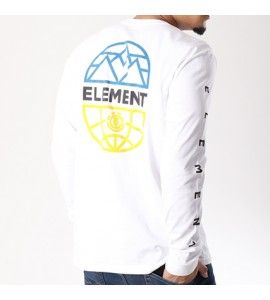 ELEMENT camiseta M.larga LENS blanca