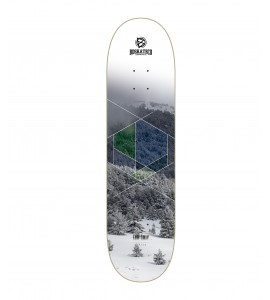 BDSKATECO skate deck Fade Away - SNOW - CP Shape