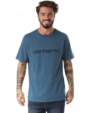 CARHARTT SCRIPT T-SHIRT BLUE