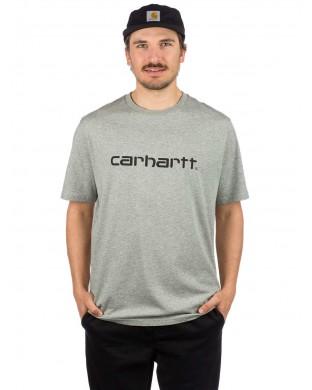 CARHARTT SCRIPT T-SHIRT GREY