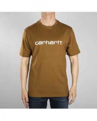 T-SHIRT CARHARTT SCRIPT T-SHIRT BROWN