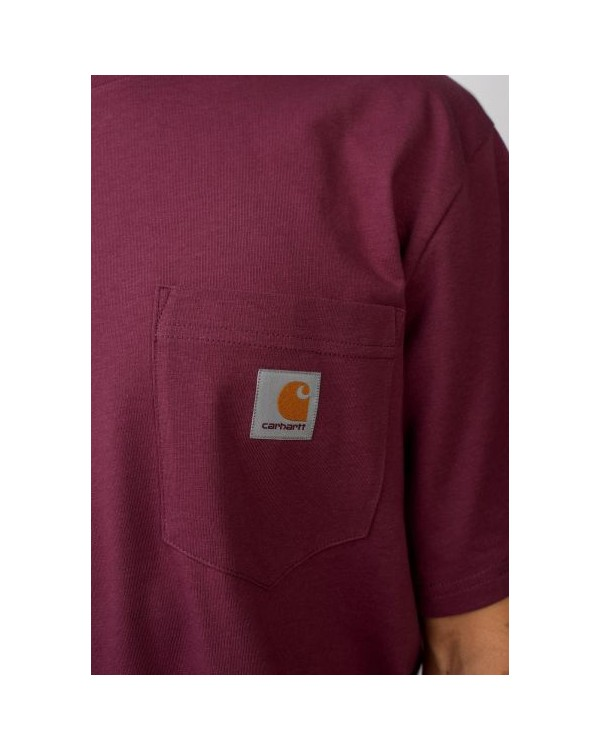 CAMISETA CARHARTT POCKET T-SHIRT BURDEOS