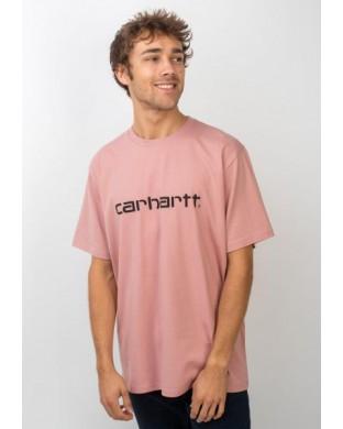 CARHARTT SCRIPT T-SHIRT PINK