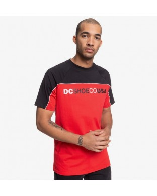 T-SHIRT DC BROOKLEDGE SS RED/BLACK