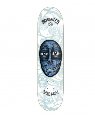 BD skate deck Artist Series - Stole Army- White model