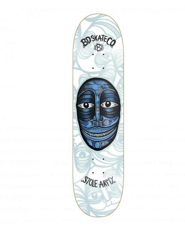 BD skate deck Artist Series - Stole Army- White model