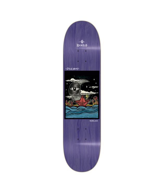 BDSKATECO skate deck Stole Army II. Reveldia Purple