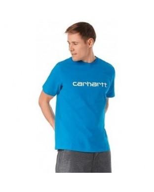 CAMISETA CARHARTT SCRIPT T-SHIRT AZUL