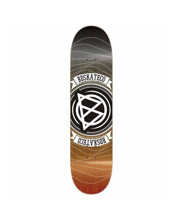 BD DECK EPOXY WAVES BLACK/ORANGE
