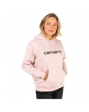 SUDADERA CARHARTT W HOODED FROSTED PINK ROSA