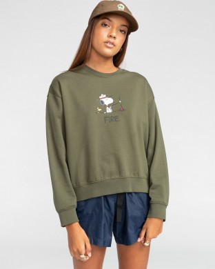 SUDADERA ELEMENT PEANUTS CR W VERDE